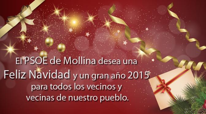 Feliz Navidad y Próspero año 2015 – PSOE de Mollina